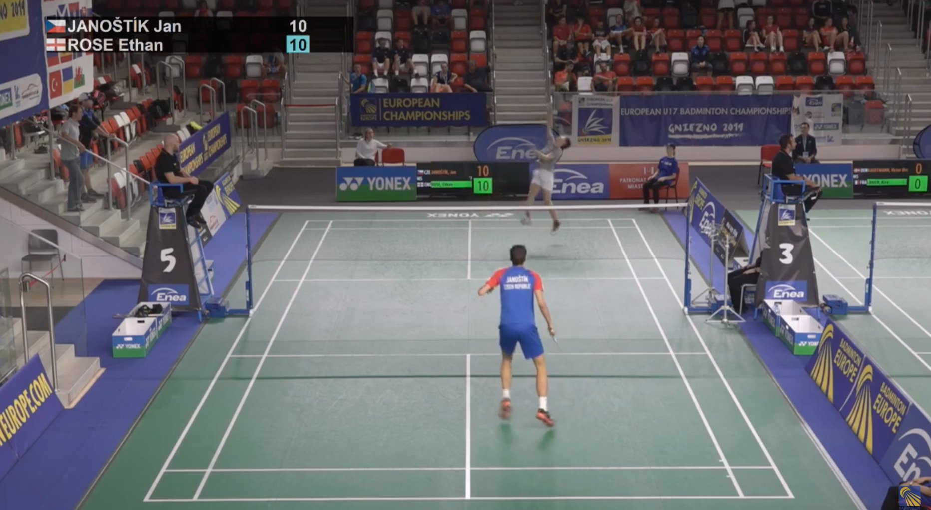 Quarter Final Match – U17 European Badminton Championships (Sept 2019) – Beating No.1 Seed.